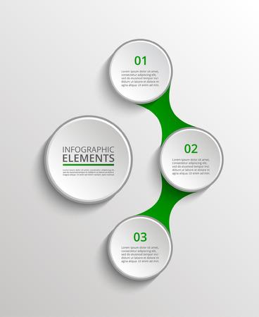 Plantilla de infografías. Metaball para diagrama, gráfico, presentación y gráfico. Concepto de negocio con 3 opciones, piezas, pasos o procesos.