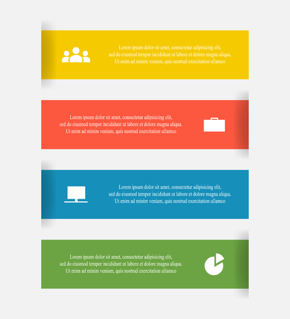 Vector lines infographic. Template for diagram, graph, presentation and chart. Business concept with 4 options, parts, steps or processes. Иллюстрация