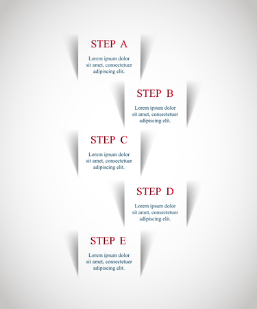 Template for diagram, graph, presentation and chart. Business concept with 4 options, parts, steps or processes. Illustration