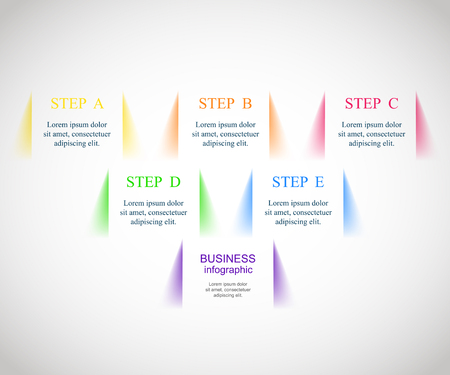 Template for diagram, graph, presentation and chart. Business concept with 5 or 6 options, parts, steps or processes.