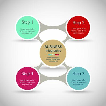 Metaball per diagramma, grafico, presentazione e grafico. Concetto di business con 4 opzioni, parti, passaggi o processi
