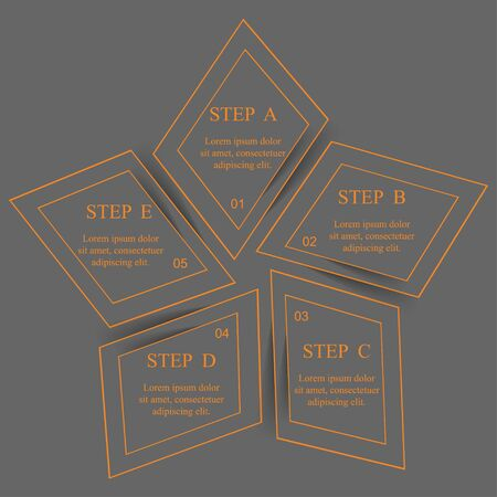 Template for diagram, graph, presentation and chart. Business concept with 5 options, parts, steps or processes. Vector infographic Иллюстрация