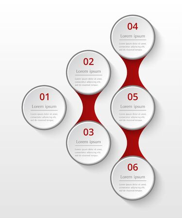 Infographics template. Metaball for diagram, graph, presentation and chart. Business concept with 6 options, parts, steps or processes. Illusztráció