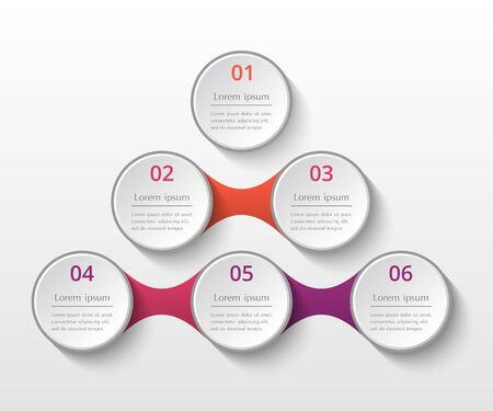 Infographics template. Metaball for diagram, graph, presentation and chart. Business concept with 6 options, parts, steps or processes. Ilustração