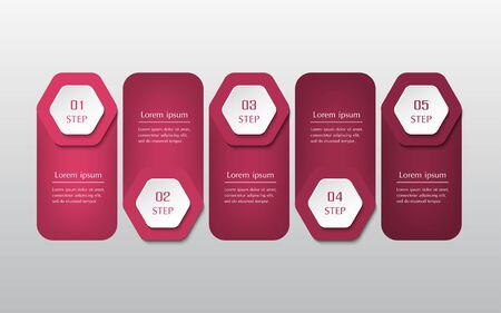 Infographic design elements for your business data with 5 options, parts, steps or processes.