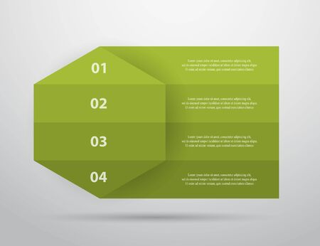 Template for diagram, graph, presentation and chart. Business concept with 4 options, parts, steps or processes