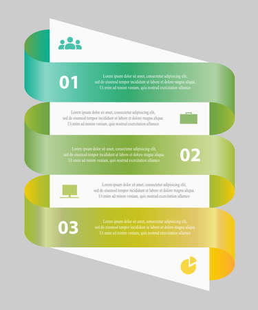 Template for diagram, graph, presentation and chart. Business concept with 3 options, parts, steps or processes