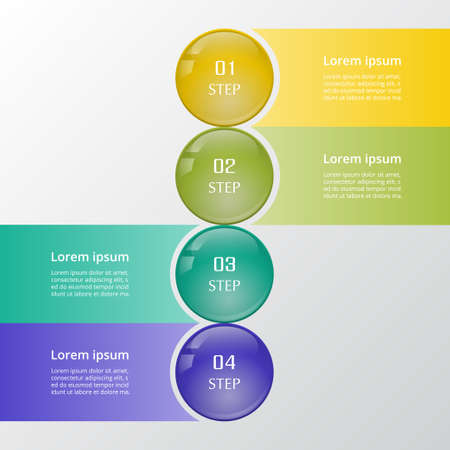 Business Infographics ball concept. Vector illustration with 4 options can be used for web design and workflow layout.