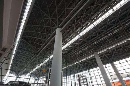 structural steel: Structural steel roof