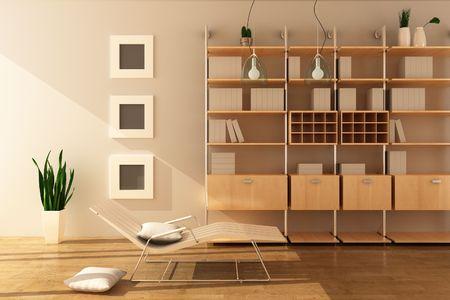 3D-Rendering Inneren der modernen Wohnzimmer