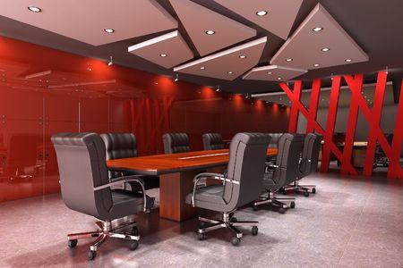 sala de reuniões: 3d rendering interior of a modern meeting room Imagens