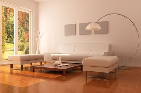 3d rendering interior of a modern living room Stock Photo - 5492350