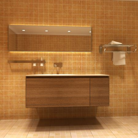 3d rendering interior of a bathroom