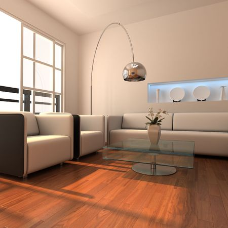 3d rendering interior of a modern living room
