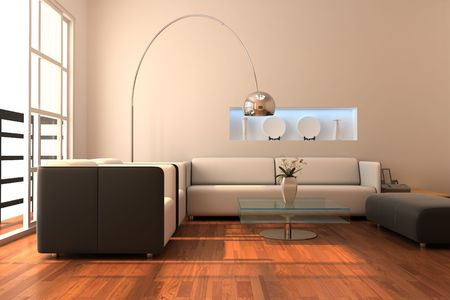 3d rendering interior of a modern living room Stock Photo - 5621392