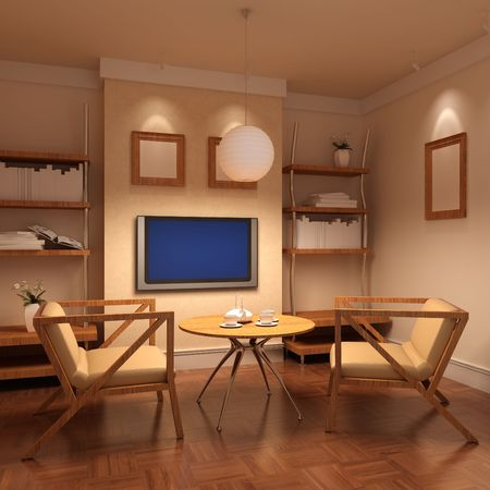 3d rendering inter of a living room Stock Photo - 5658753