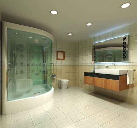 3d rendering inter of a modern bathroom Stock Photo - 5681598