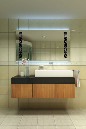 3d rendering inter of a modern washroom Stock Photo - 5681597