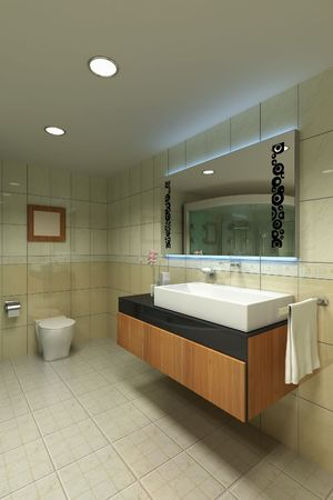 3d rendering interior of a modern washroom Stock Photo - 5681595