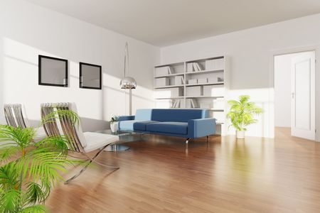 3d rendering interior of a living room photo