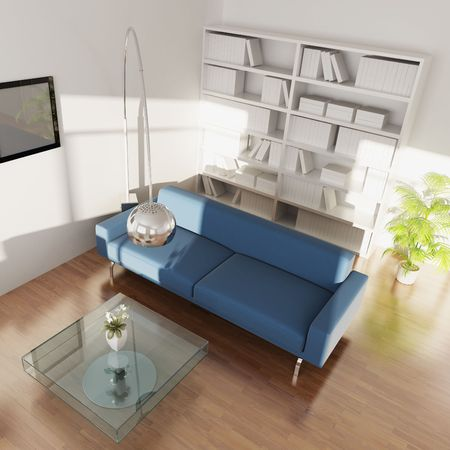 3d rendering interior of a modern living room Stock Photo - 5708571
