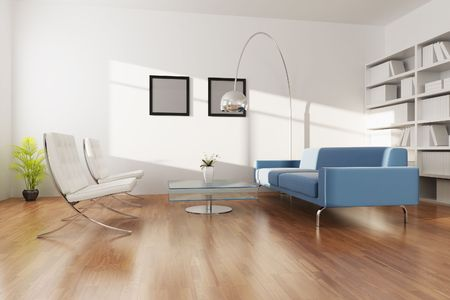 3d rendering interior of a living room Stock Photo - 5703629