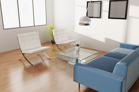 3d rendering interior of a living room Stock Photo - 5703628