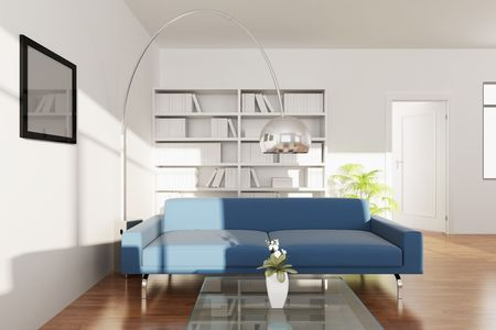 3d rendering interior of a modern living room Stock Photo - 5708572