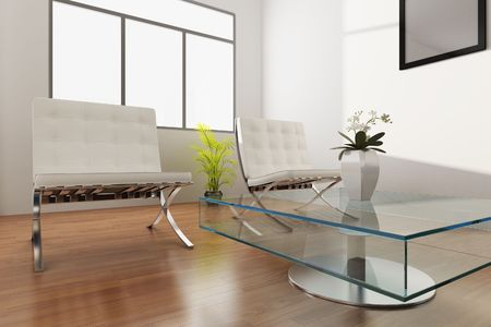 3d rendering interior of a living room Stock Photo - 5703630