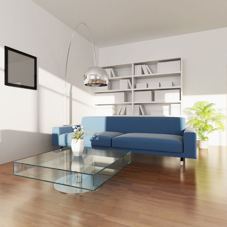 3d rendering interior of a living room Stock Photo - 5703631