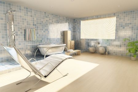 3d rendering a modern bathroom Stock Photo - 5765068