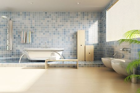 3d rendering a modern bathroom Stock Photo - 5765072