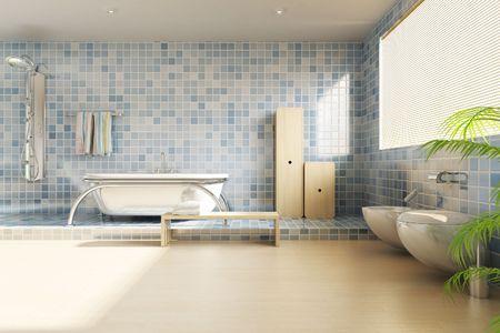 3d rendering a modern bathroom Stock Photo - 5765072