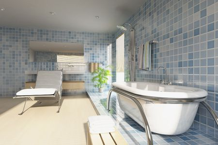 3d rendering a modern bathroom Stock Photo - 5765067