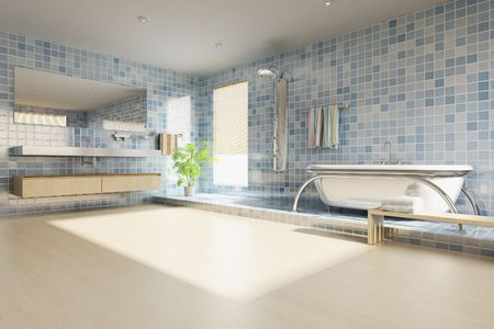 3d rendering a modern bathroom Stock Photo - 5765070
