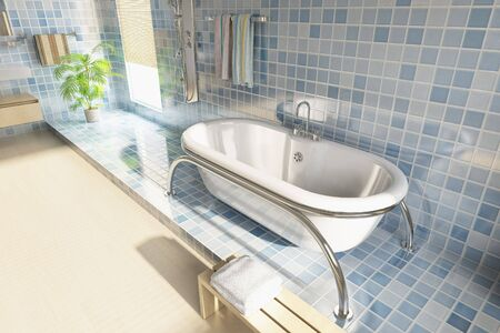 3d rendering a modern bathroom Stock Photo - 5765071