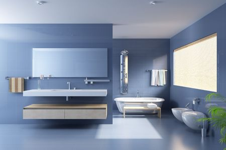 3d rendering a modern bathroom Stock Photo - 5797007