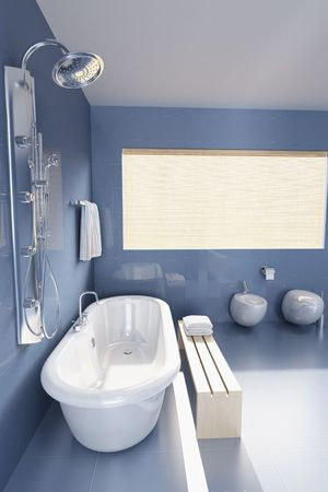 3d rendering a modern bathroom photo