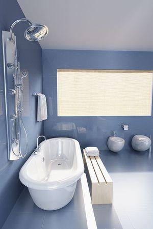 3d rendering a modern bathroom photo