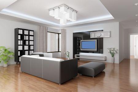 3D rendering eine moderne Wohnzimmer Standard-Bild