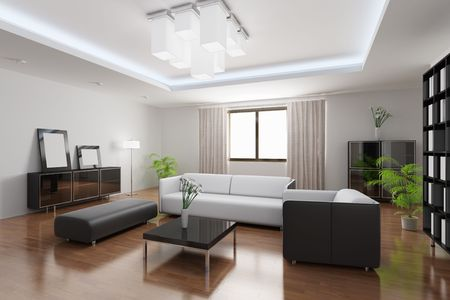 3d rendering a modern living room Stock Photo - 5861247