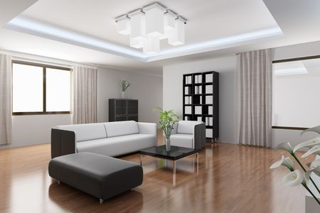 3d rendering a modern living room Stock Photo - 5861248