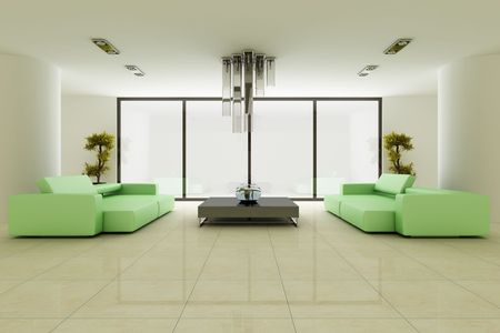 3d render interior of a modern living room Stock Photo - 5981153