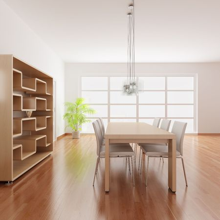 3d render interior of a modern dining room Stock Photo - 5981180