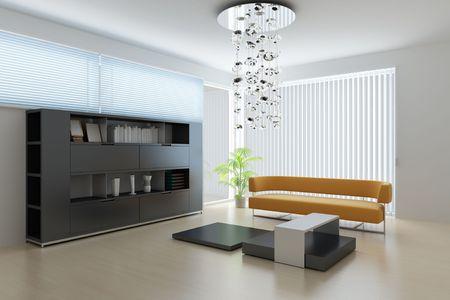 3d render interior of a modern living room