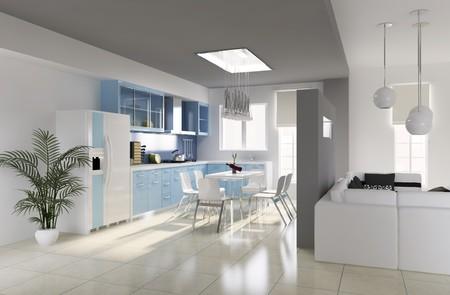 modern dining room.3d render Stock Photo - 6870796