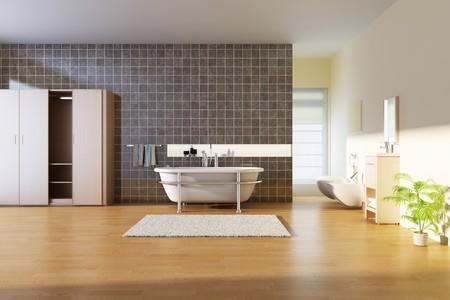 Badezimmer mit modernen style.3d render  Standard-Bild