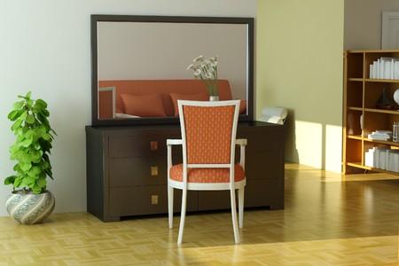 Home interior.3d render