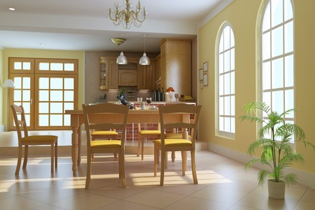 classic luxury dining room.3d render Stock Photo - 7253141
