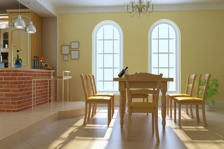 classic luxury dining room.3d render Stock Photo - 7253142